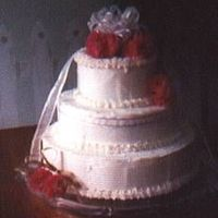 50Th Anniversary I made this cake for my grandparents' 50th. It was my first stacked cake, all bc and filled with strawberry jam.