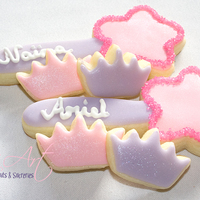 Princess Stuff Sugar cookies with toba's glace.