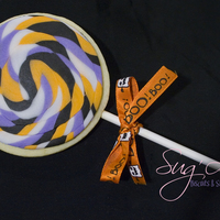 Halloween Lollipop Sugar cookies with Michelle Foster's fondant.