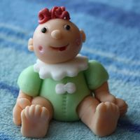 3D Fondant Baby 3D Fondant Baby Figure.Made at the Fondant Figures Class at The Cake Tutor (thanks annacakes - it was a fun class!).