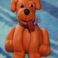 Fondant 3D Puppy Fondant 3D PuppyMade at the Fondant Figures Class at The Cake Tutor (thanks annacakes - it was a fun class!).