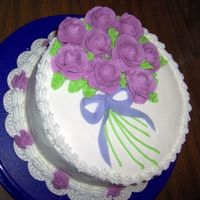 Wilton Level 1 Cake Decorating Class: 3Rd Cake Here it is the final cake for Level One