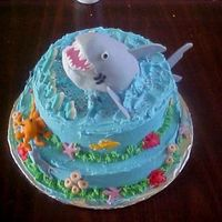 Under Da Sea This shark attach won't hurt you a bit. This is a cake I did for a friend of my son's. He wanted a cool shark cake, so I thought...