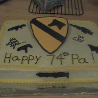 1St Cav This is a cake for my Grandfather's 74th Birthday. He is an Army Veteran. When he saw this cake, he was speachless (and that's...