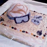 Dessert Sands This is a cake I did for a friend of ours that was being sent to the desert. I made the goggles, the chevrons, and the dog tags out of...