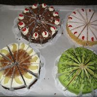 Swiss Cakes This is a group of cakes that a bunch of us made while in Switzerland. Each cake is traditionally made in Switzerland. Let me tell you, we...