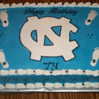 Tarheels Cake This is a Tarheels cake done in buttercream with fondant accents. I wanted to thank Kitagrl for the idea for this cake.