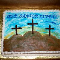 Three_Crosses.jpg This is a cake I made for my church. Everything is buttercream.