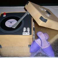 Record Player With Purple Dancing Shoes