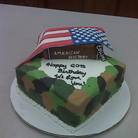 Veterans Birthday   A friend's birthday cake. He is a Army Veteran and a History Teacher. Had issues i with this one. Just glad it is done.