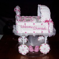 Pink Heart Carriage Cake