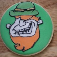 Grinning Leprechaun Freehand design, NFSC with Antonia's RI