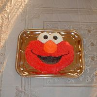 Elmo   here is the second cake we done for my sons first birthday. We had to feed alot of people.
