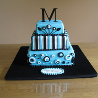 Melanie 26Th Birthday Used Satin ice fondant, was inspired by a similar cake found in the Cakecentral photo gallery.