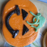 Halloween fondant covered cookies