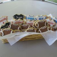 Football Cookies I made these cookies for a labor day football tailgate party theme.