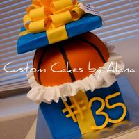 Basketball Gift Totally ripped off this incredible design by chocmocakes with her permission of course! The lid is fondant covered foam core and by the...