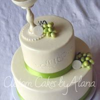 Mitchell's Communion Gumpaste chalice and grapes.