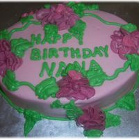 Mil Birthday Cake Chocolate cake pink frosting. I LOVE pink! I had a great time decorating this one with my daughter.
