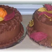 Chocolate Thanksgiving Cakes