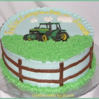 "Ernesto's Tractor   8"" with BC,,,Chocolate transfer"