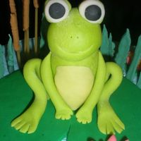 Fondant Frog Isn't this lil guy cute!! I can say my first fondant figure that I like. Tutorial found on youtube from Donna Lane