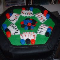 Son's Birthday Poker Cake This was only my 2nd attempt at a cake outside of my Wilton 1 & 2 classes. It is butercream top with fondant sides and accessories. My...