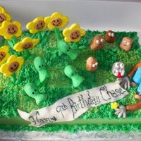 Plants Vs. Zombies Birthday Cake Cake based on game, Plants vs. Zombies