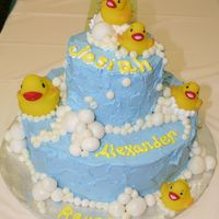 Baby Shower Duckie Cake Thanks to my3girlies. i took this right out of her album. All bc with fondant bubbles. love doing it. Thanks again my3girlies.