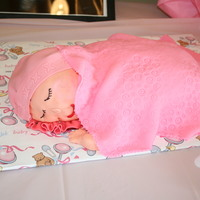 Carved Baby Cake all fondant