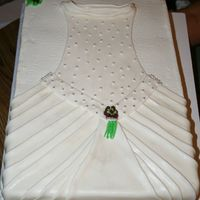 Bridal Shower This is all BC and fondant dress. Again another creation from CC. The bride to be didn't want to cut it.