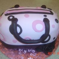 Pink Purse   Pink and chocolate fondant My first purse...cake is white and chocolate layers w/ buttercream and ganache