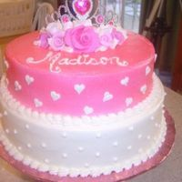 1St Birthday Party Princess cake airbrushed cake w/ fondant roses