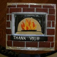 Oven Cake This is a sheet cake I made for my first paying customer. It is a thank you to a company that makes pizza ovens, and my client wanted the...