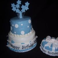 Tarheel 1St This was ordered for a child's 1st birthday. It was a great order, because when the mom was pregnant, I did the baby shower cake for...