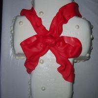 Cross This was for a church's women's group meeting. It's a choc. cake to represent sin, covered in white to represent the purity...