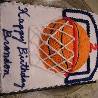 Basketball Cake Basketball cake with backboard.