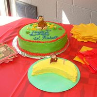 Curious George Cake I made these cakes for my son's 1st birthday. It was my first time working with fondant (george and bananas). The smash cake was...