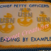 Cpo Transition Cake For The Uss Alabama I made this cake a while ago for the CPO Transition for the USS Alabama. I used B/C to cover, because really who likes to eat fondant? The...