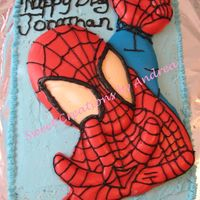 Spider-Man Birthday Cake I made this cake for my step sons 5th birthday. All b/c and the spiderman is made of milk chocolate. Cake is Chocolate with raspberry...