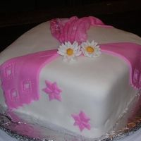 My Very 1St Fondant Cake This is my very first fondant cake...I am in lesson 2 of Wilton Fondant/Gumpaste class. I am satisfied w/the way it turned out...and its...