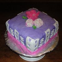 My Finale Fondant /gumpaste Cake Class This is my finale cake from Wilton Fondant/gumpaste class...