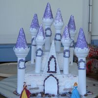 Princess Castle Cake   This was the cake I made for my twin daughters' birthday.
