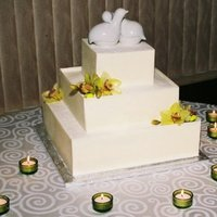 White Chocolate Wedding Cake This cake is covered in slabs of white chocolate...thanks to everyone who responded to my questions on how to do this!! If anyone is...