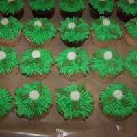 Golf Cupcakes These accompanied the golf cake in my photos...for a 75th Birthday party