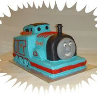 Thomas The Train My version of the train...choc cake w/buttercream w/fondant accents