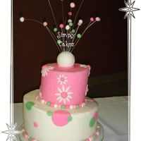 Whimsical Wedding Shower My first attempt at a whimsical & stacked!