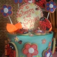 Ladybug Cookie Cake This was a very fun cake to put together. I got the idea for the ladybugs here on CC (thanks -- so many great ones to choose from! ) . My...