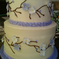Lavender Blossoms And Vines I saw something similar here on CC and tried to make it a bit like it, but I didn't do it near justice! It was such a beautiful cake...