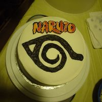 Naruto This cake was for my BIL who's only 8. It is yelow cake with BC frosting. The Naruto part is a BCT from the comic book cover. He...